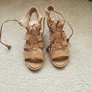 Old Navy Block heel lace up sandals